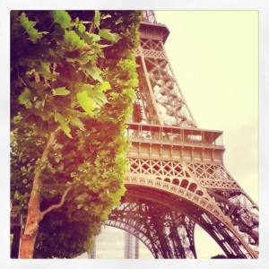 The Eiffel Tower in May